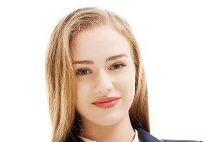 Beautiful caucasian smiling woman.