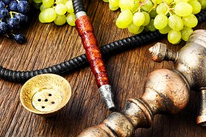 Modern shisha with grapes