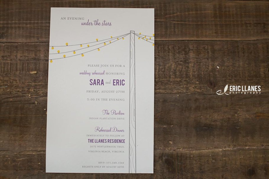 Wedding Rehearsal Invite