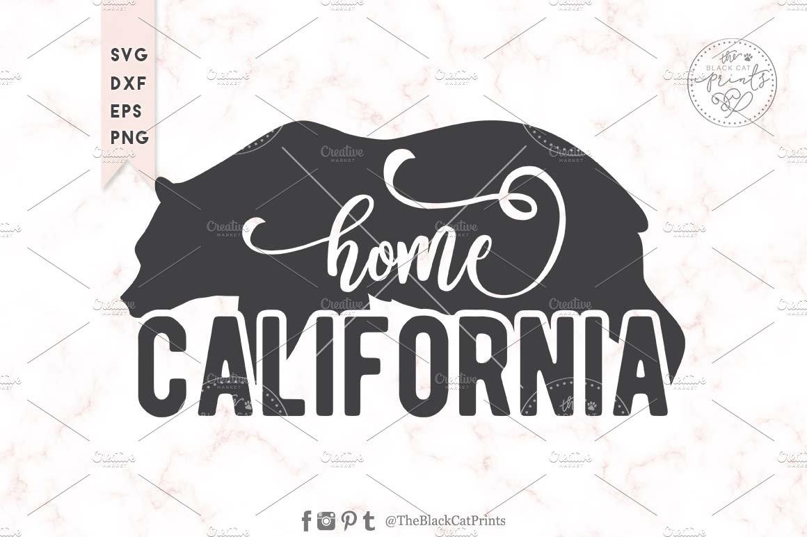 California Svg Dxf Eps Png Pre Designed Photoshop Graphics Creative Market