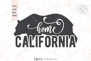 California SVG DXF EPS PNG