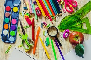 School items. It's time to go to