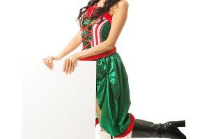 Full length woman wearing elf