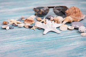 Shells and sunglasses