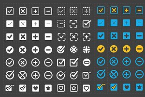Vector confirm icons set