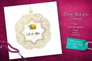 4. Eid Al-Adha Pre-Made Card
