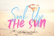 Soak Up The Sun Font Duo + SVG