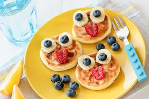 Fun food for kids. Pancakes