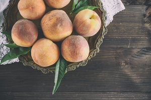 fresh ripe peaches