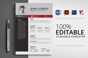 CV Resume , Cover letter Template