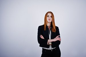 Portrait of a redheaded businesswoma