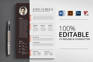 Resume Cv Template Ms Word A4 Us Resume Templates Creative