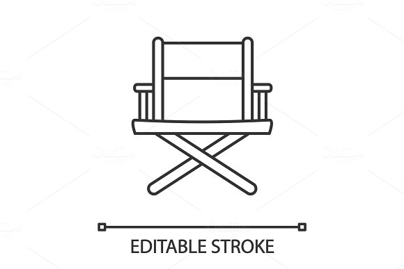 Director's chair linear icon
