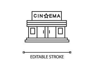 Cinema building linear icon