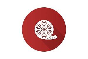 Filmstrip roll glyph icon