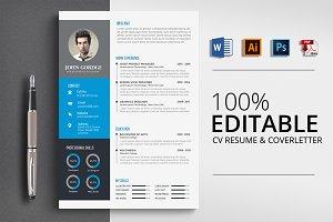 Modern CV Resume Word