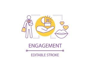 Engagement concept icon