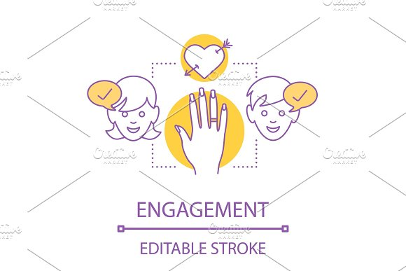 Engagement concept icon
