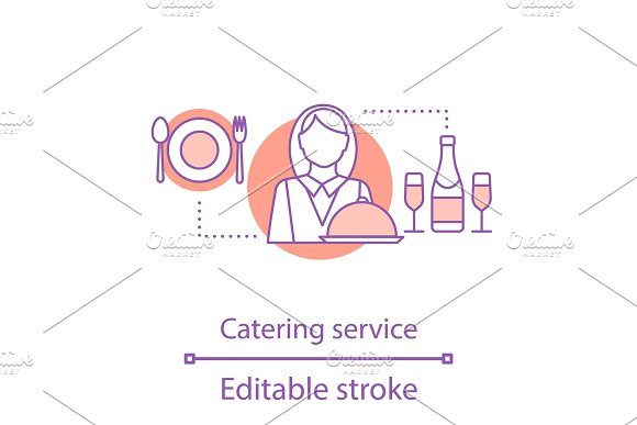 Catering service concept icon