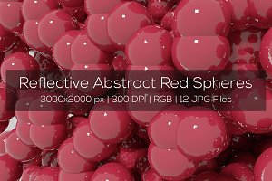 Reflective Abstract Red Spheres