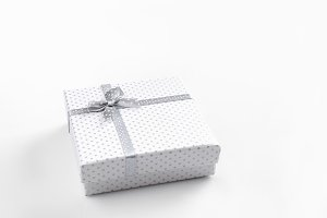 White gift box isolated