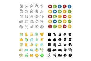 Percents icons set