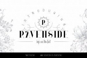 Ravenside-high end trio font   -50%