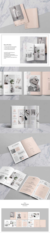 Editorial Portfolio Psd Nomi Brochure Templates Creative Market