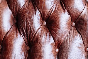 Closeup texture of leather sofa