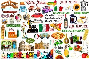 Italy Watercolor & Illustrative Art