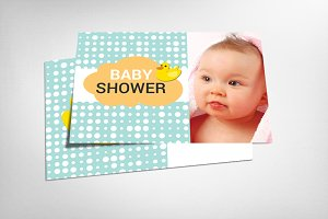 Baby Shower Card Psd