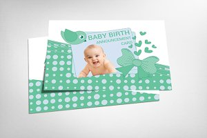 Birth Baby Announcement Card