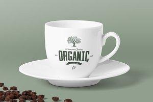 Organic natural food tree logo