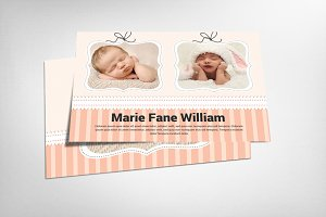 Happy Baby Boy and Girl Card