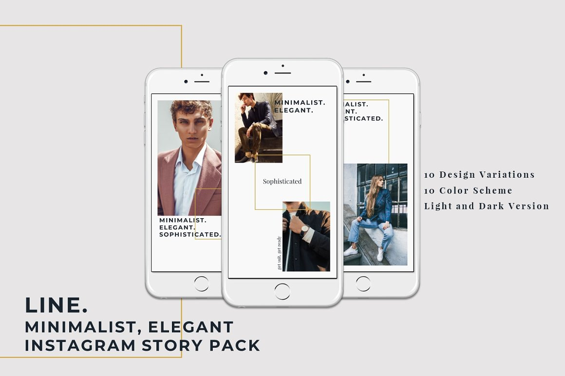 LINE - Instagram Stories Pack