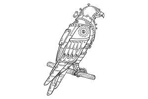 Mechanical hawk bird animal