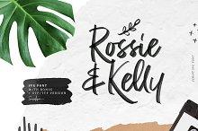 Rossie Kelly - SVG Font by  in Script Fonts