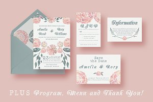 Watercolour Wedding Suite