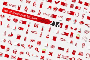 216 medicine stickers