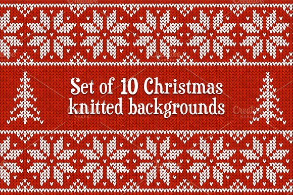 10 Knitted Vector Seamless Patterns Graphic Patterns Creative Market