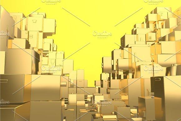 Wealth rich concept idea Golden city