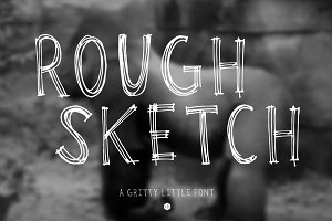 Rough Sketch Mini Font