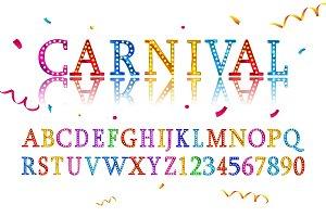 carnival letters illustrations creative market