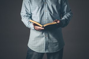Gentleman with a open Bible