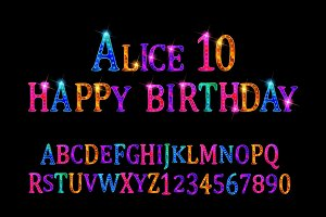 Alice 10 font children's