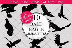 Bald Eagle Silhouette Clipart Clip