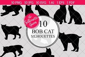 Bob Cat Silhouette Clipart Clip Art