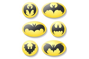Bat buttons set