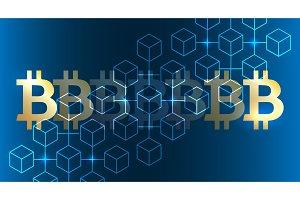 Blockchain bitcoin background