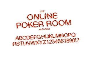Casino letters set